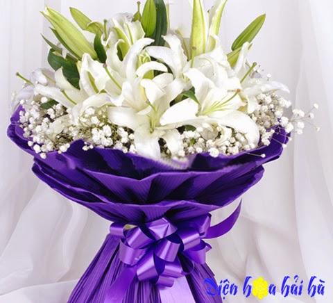 Bó hoa ly trắng đẹp