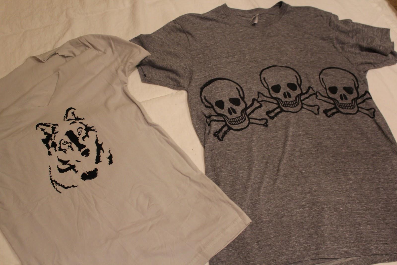 Diy silk screen tees the stripe for Silk screen tee shirts online