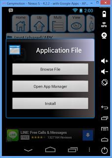 Menginstal file.apk dari Komputer pada Virtual Android Genymotion