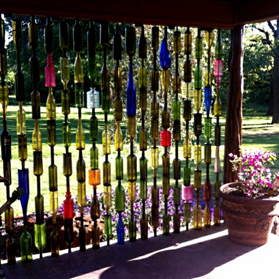 Upcycled garden style a website from gardens inspired for How to use wine bottles in the garden