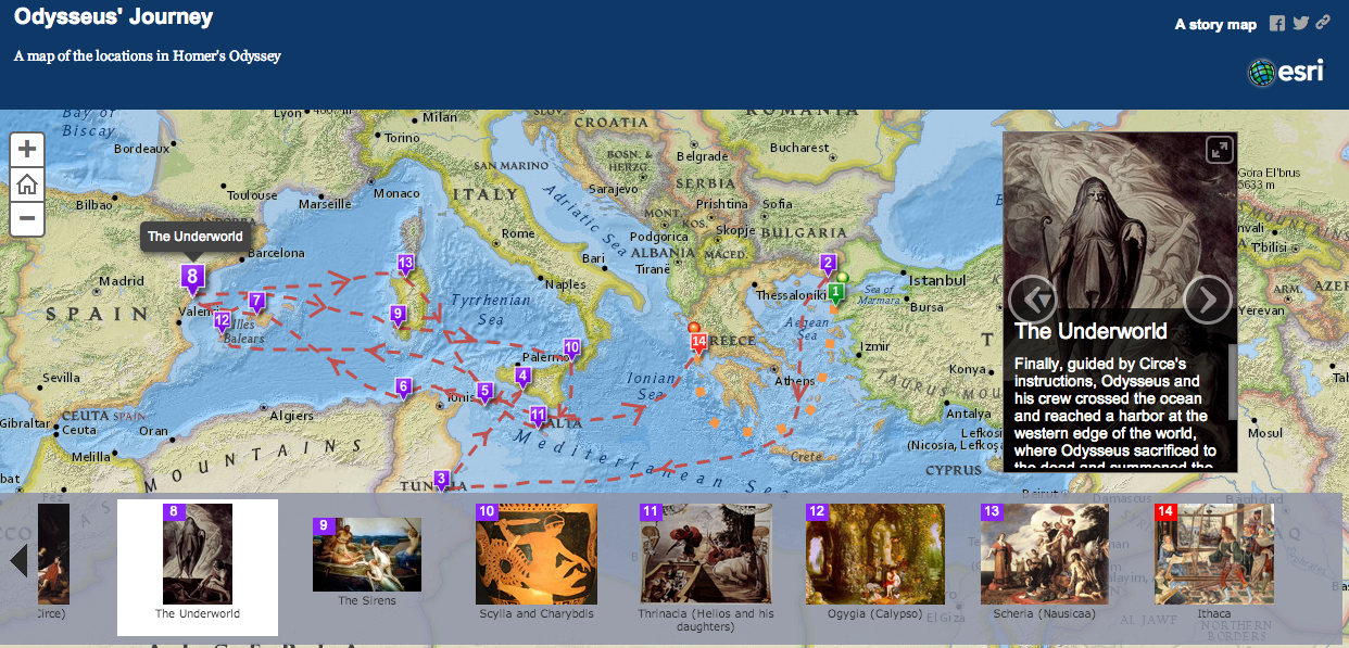 Free Technology for Teachers: An Interactive Map of The Odyssey