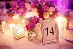 Cuadro con numero de mesa