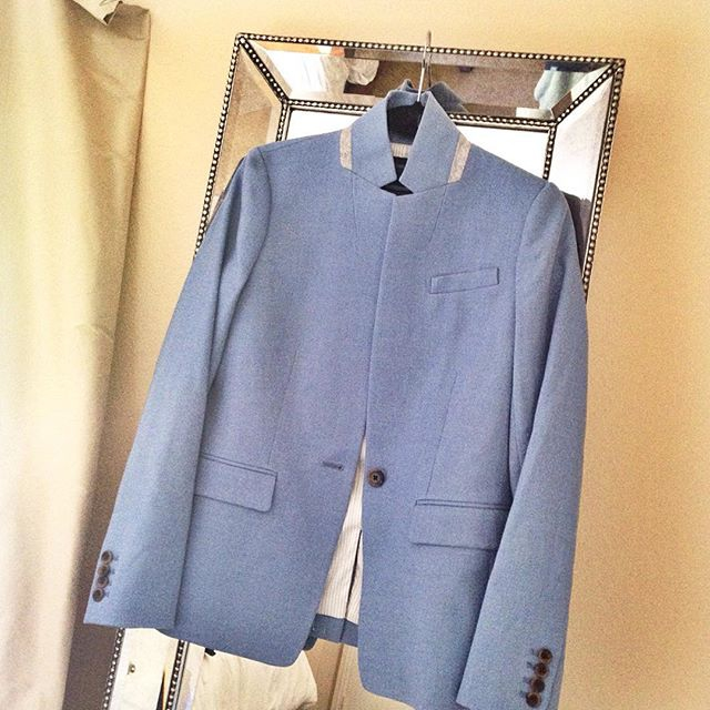 light blue blazer