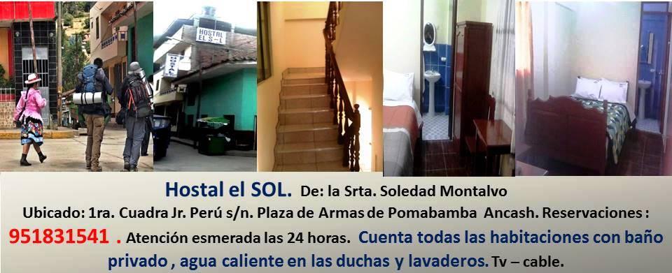 Hostal El Sol - Pomabamba - Ancash.