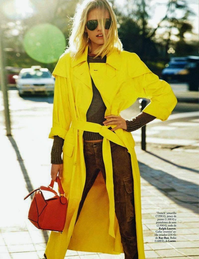 Model @ Tosca Dekker by Mario Sierra for ELLE Spain, April 2015