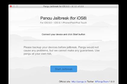 Alat Jailbreak Pangu iOS 8/8.1 Untuk Mac OSX Telah Dirilis!