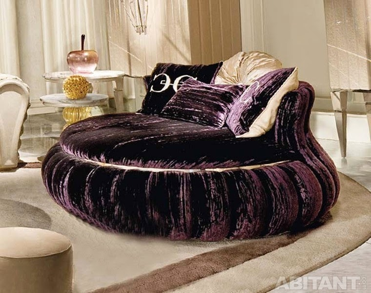 purple round sofa bed, round sectional sofa,round sofas