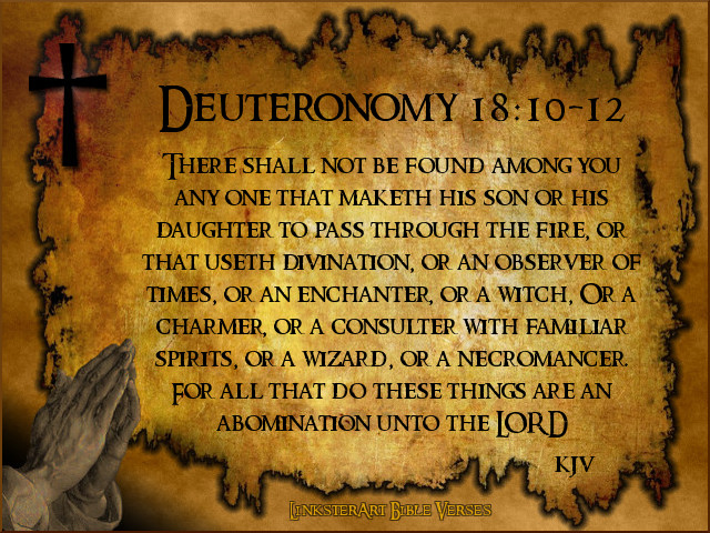 Image result for deuteronomy 18:10-12 kjv