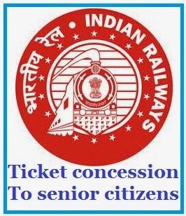 ticket concession for senior citizens