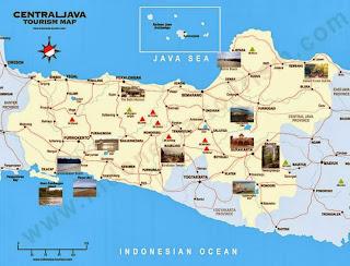 Peta Wisata dan Rute Objek Wisata Jawa Tengah