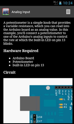 Arduino er android apps for examples