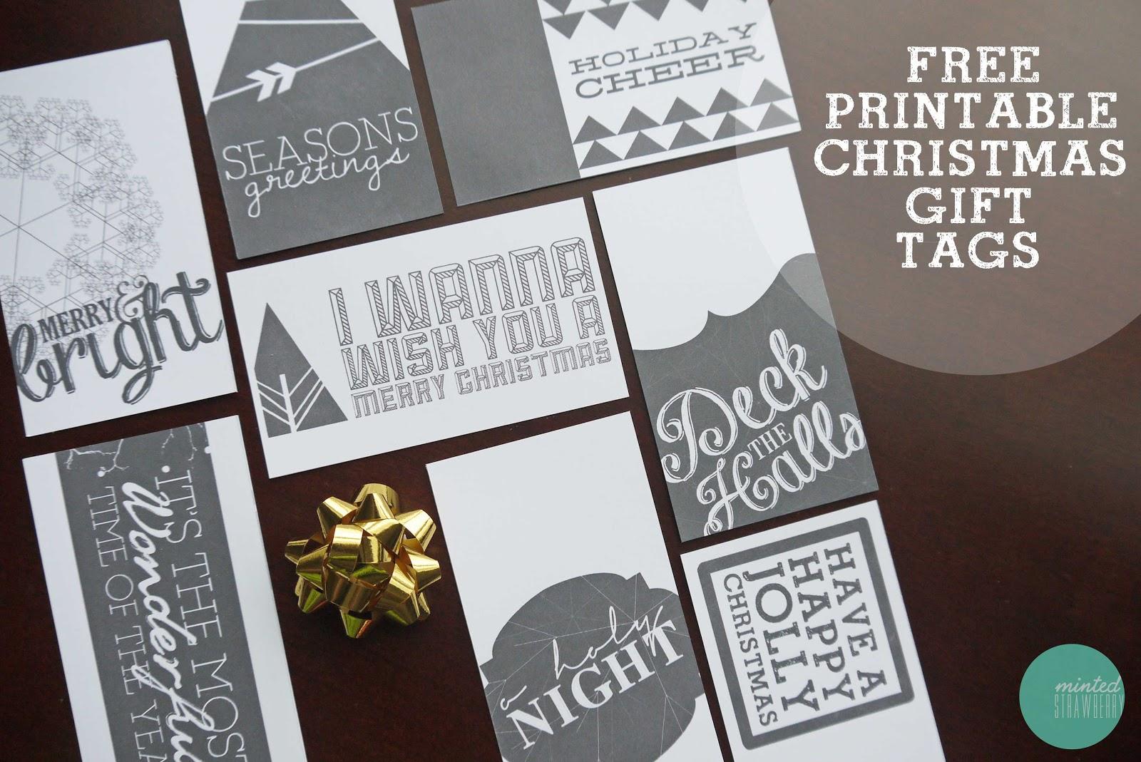 Free Printable Labels Black And White Free printable: more christmas