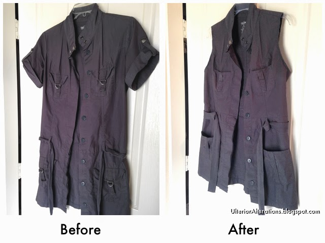 Ulterior Alterations: Refashioned Utility Vest Before & After