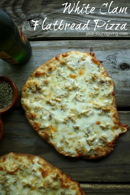 White Clam Flatbread Pizza