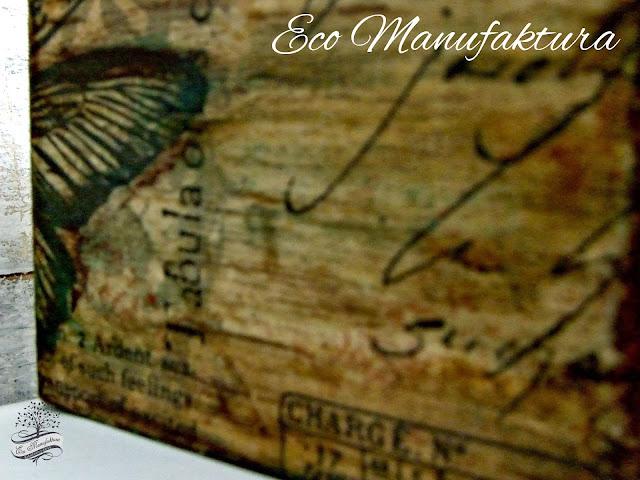 rustykalna serwetka z motylem