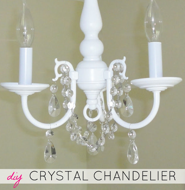 How to update brass chandeliers with spray paint & crystals | LiveLoveDIY