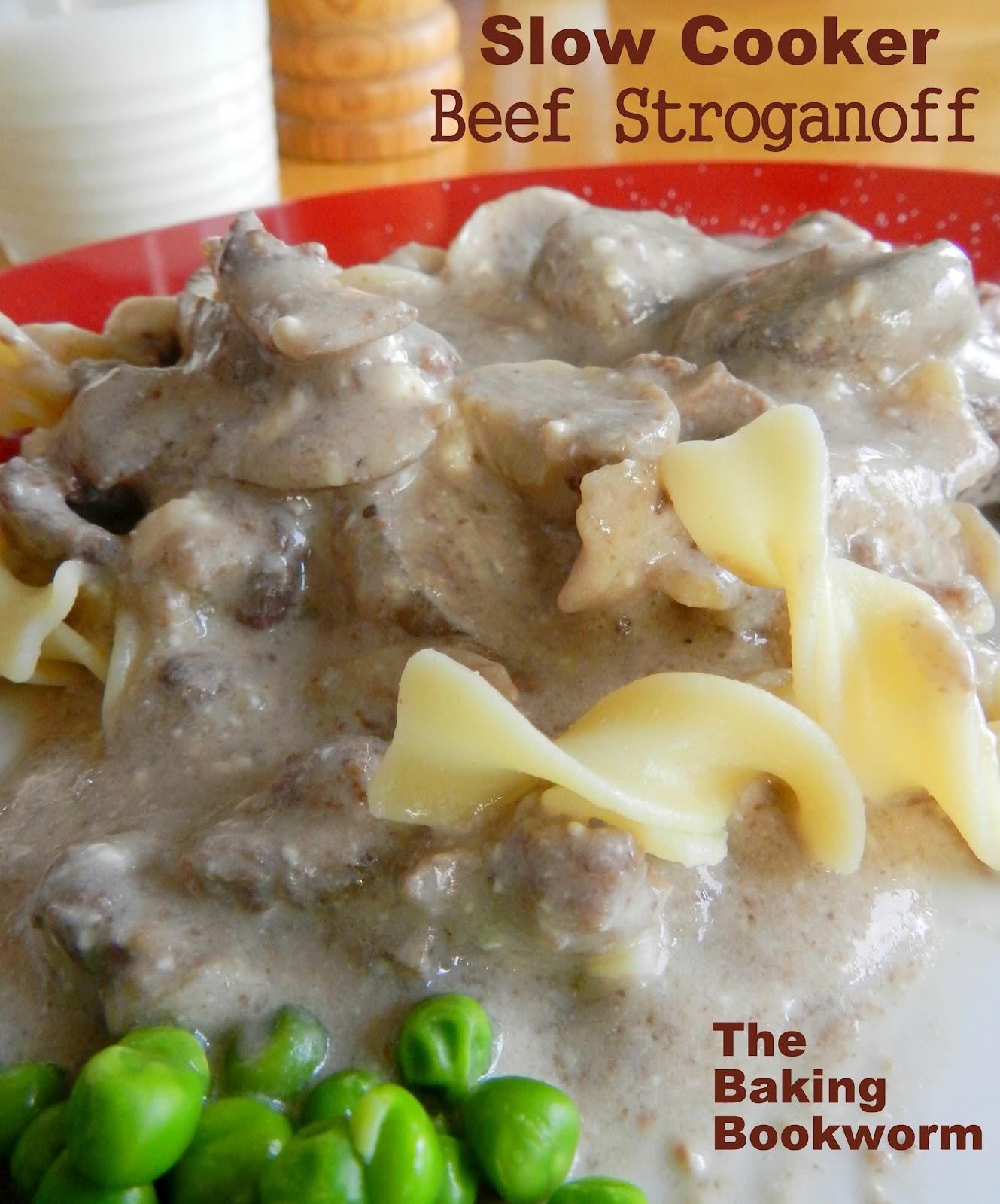 The Baking Bookworm: Slow Cooker Beef Stroganoff