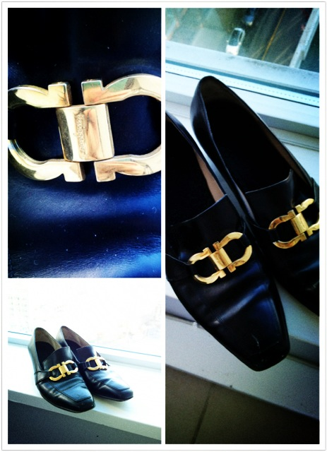 vintage Salvator Ferragamo shoes, vintage designer shoes, American Vintage find