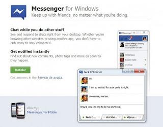 Facebook Messenger para Windows ya está disponible