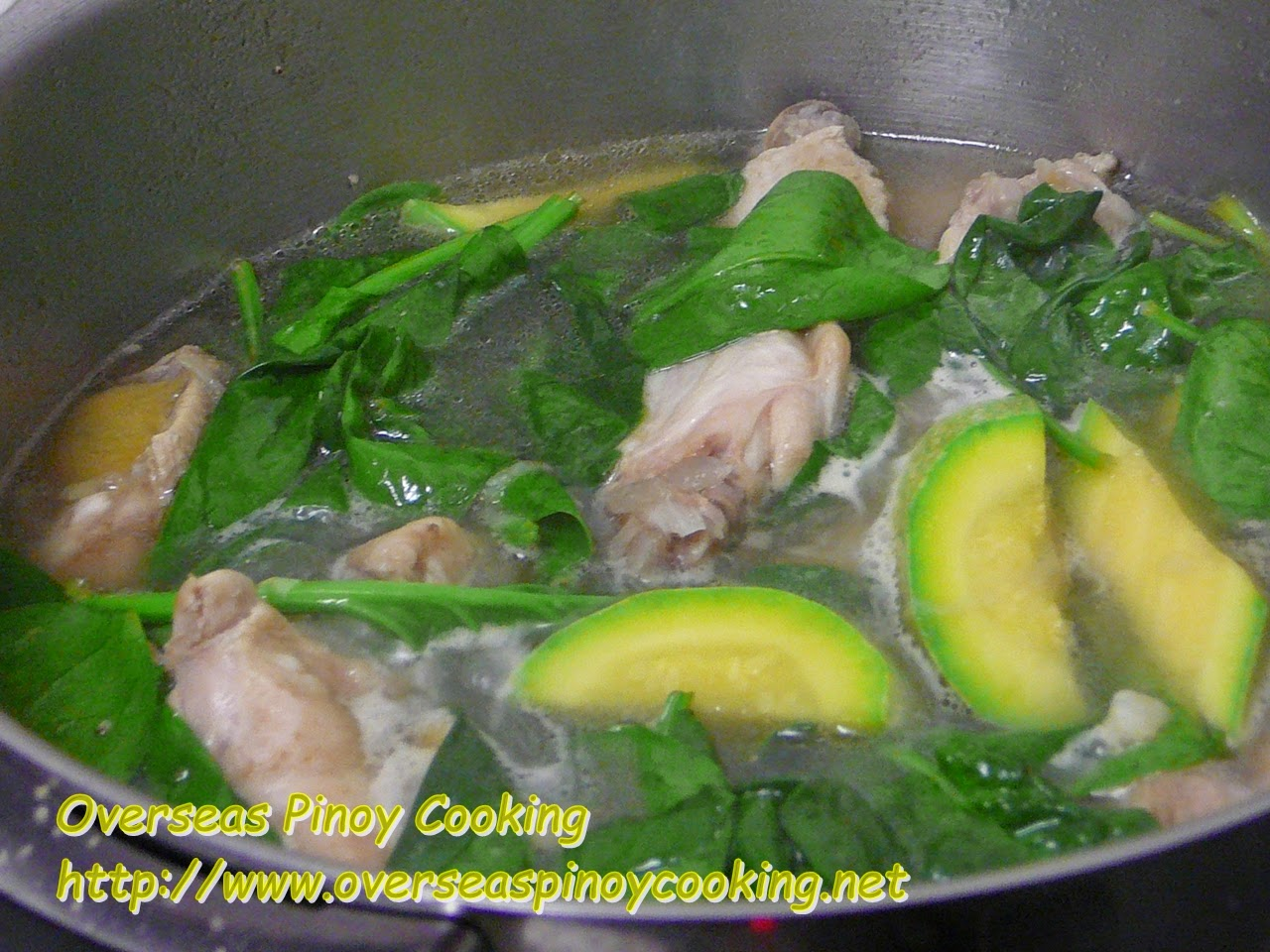 inolang Manok sa Zucchini Cooking Procedure