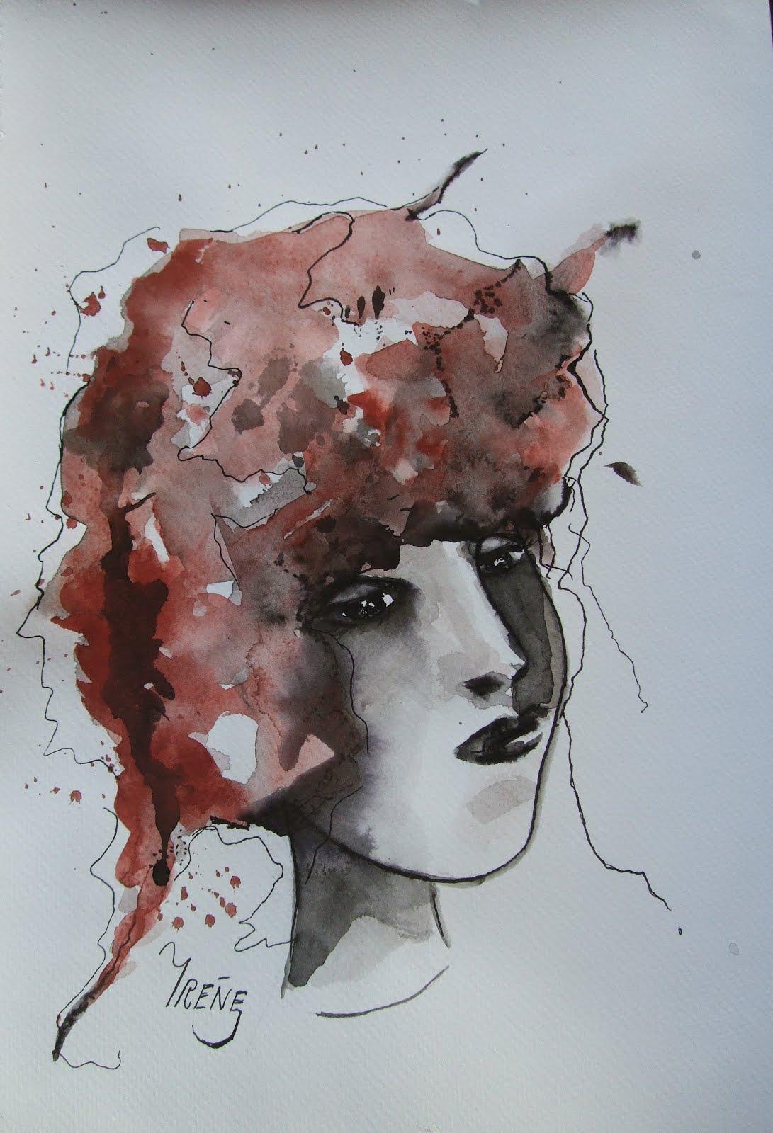 Akvarell-Bläck