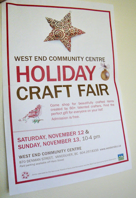 Poster, Holiday Craft Fair 2011 West End Community Centre