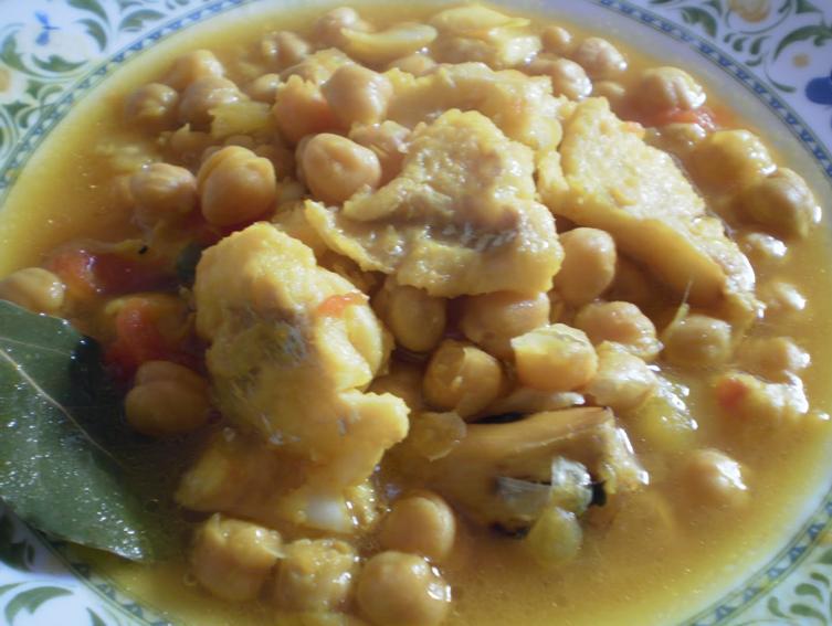 Arjona gastronom a propuesta de semana santa i - Bacalao con garbanzos y patatas ...