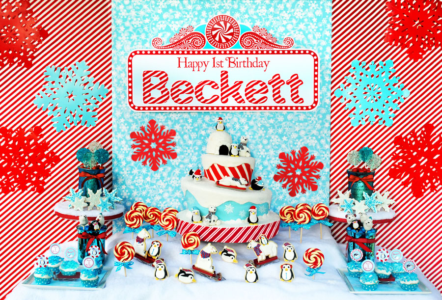 Becketts Winter ONEderland Birthday Party