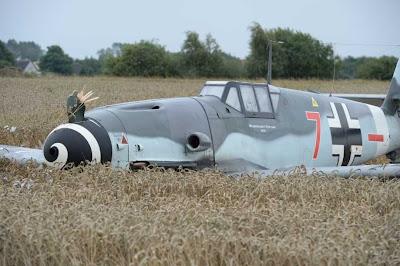 Messerschmitt, 109, downed, crashed, denmark, picture