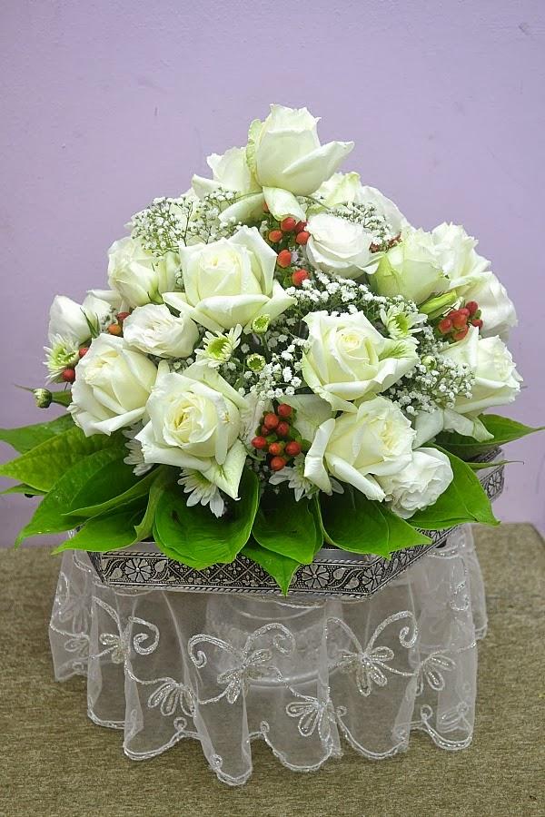 Gubahan hantaran fresh flower 7 dulang kesemuanya