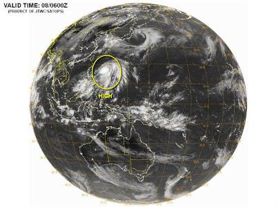 depresión tropical 03W (Yagi)