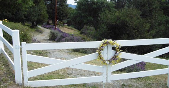 Gates with Spring Wreath