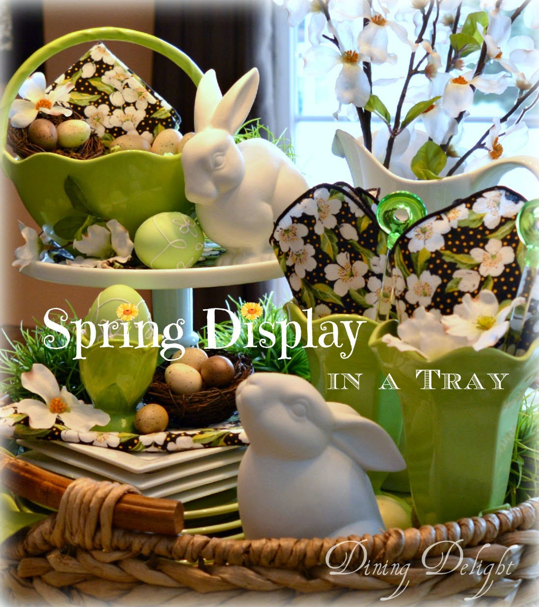 Spring Display in a Tray