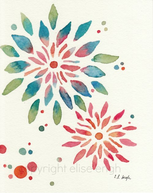 Watercolor Flower Design