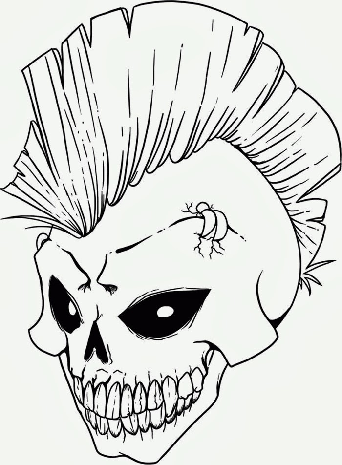 Challenger image regarding skull printable