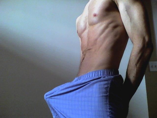 Boner pants dick gay caleb watches his 2