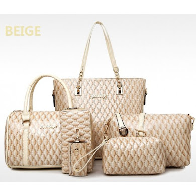 MULTI FUNCTION BAG (6 IN 1 SET) - BEIGE
