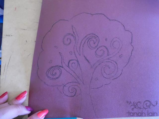 Cojín, estampado en tela con crayones