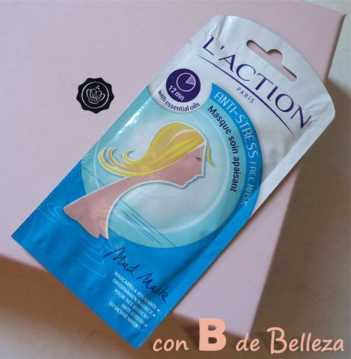 Anti stress face mask L'action Paris