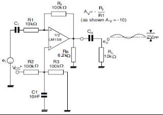 LM358 Amplificador inversor.