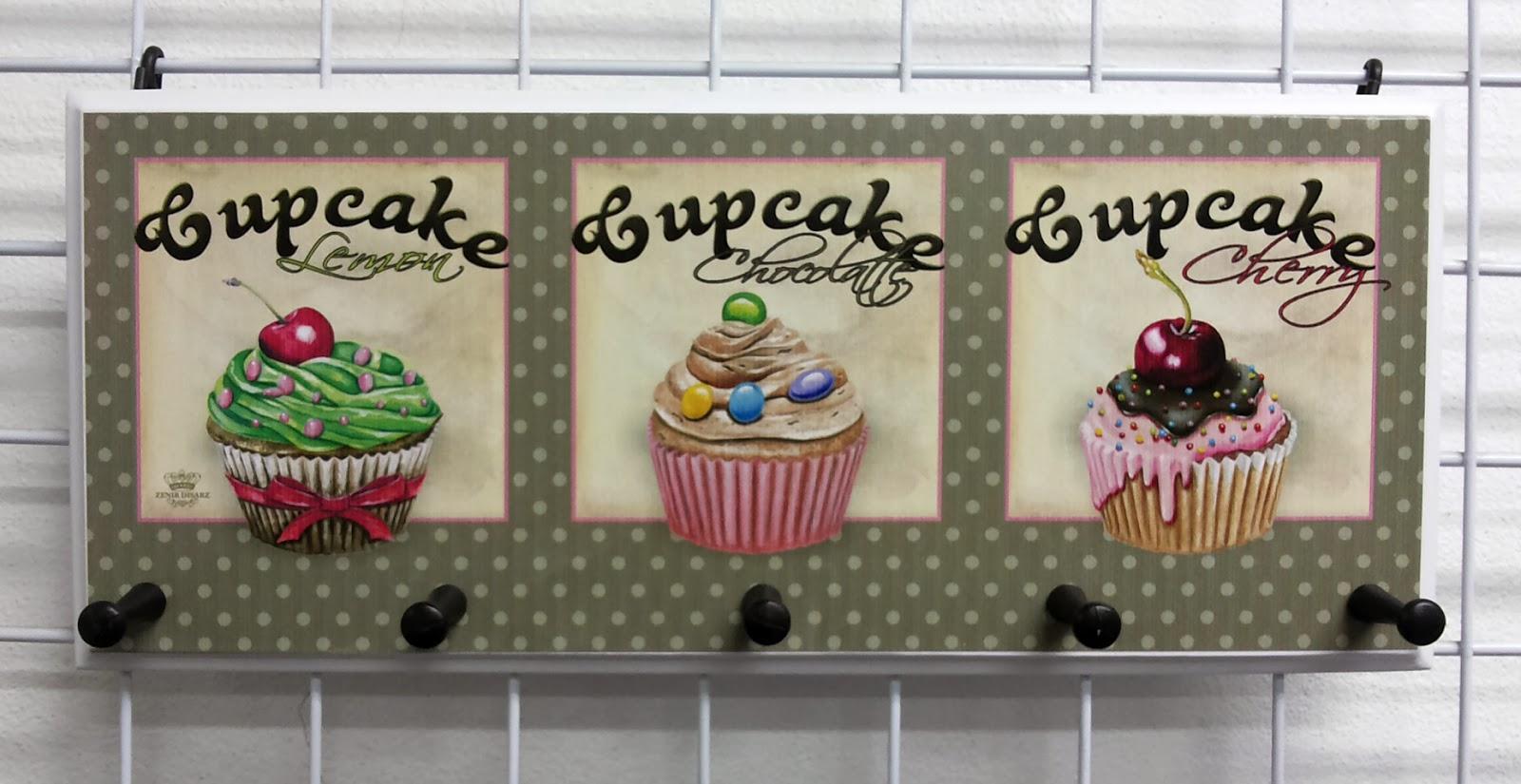 Aparador Rustico Barato ~ CR MIX Decoraç u00e3o e Presentes Gancheira 5 pinos Cupcake Zenir Disarz