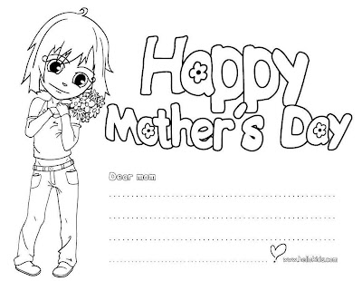 Mother day coloring page