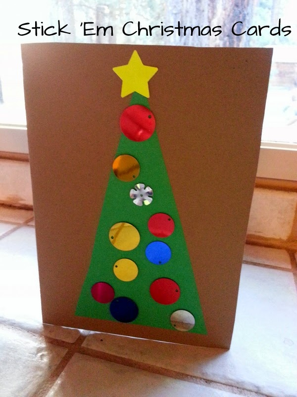 christmas tree cards for kids