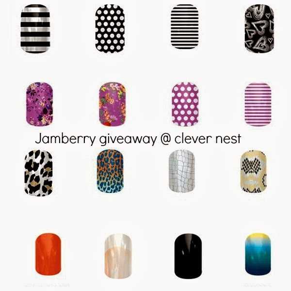 Jamberry Nail Giveaway! win 2 Jamberry Nail sheets + FREE shipping! at Clever Nest, enter by 2/19/14