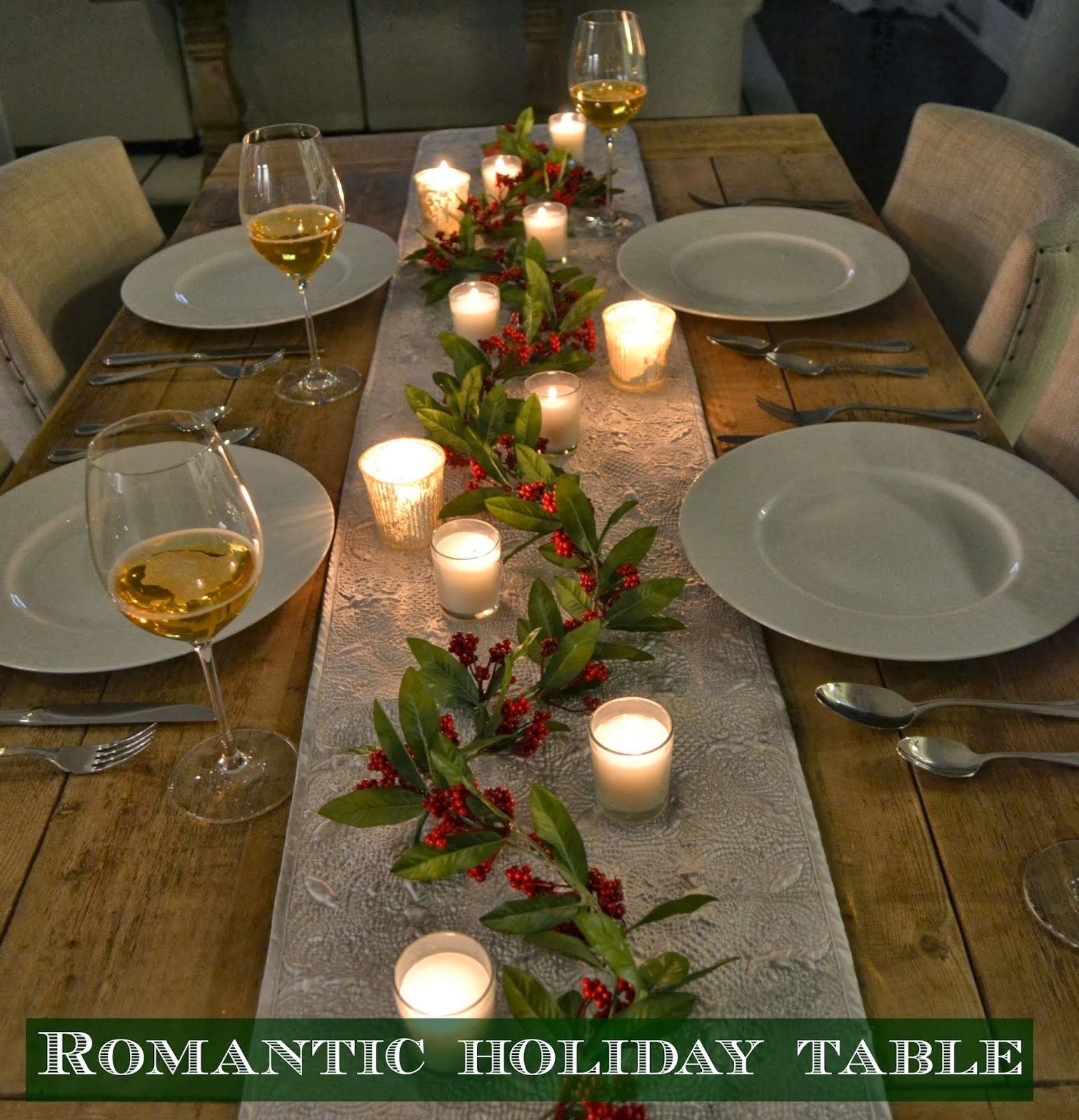 A Romantic Holiday Table