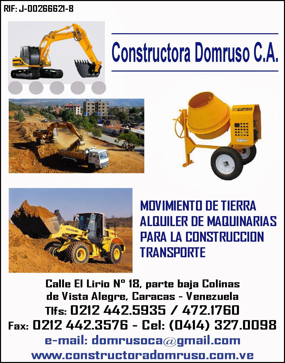 CONSTRUCTORA DOMRUSO C.A. en Paginas Amarillas tu guia Comercial