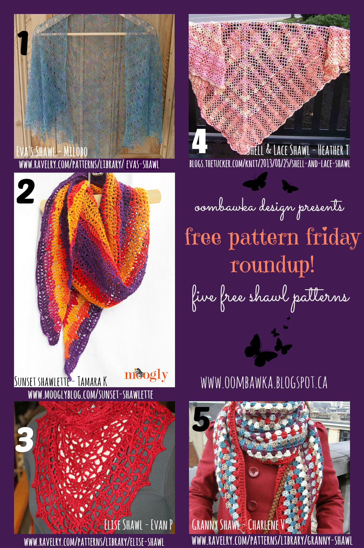 Eva s Shawl Free Crochet Pattern : Oombawka Design *Crochet*: Free Pattern Friday RoundUp!