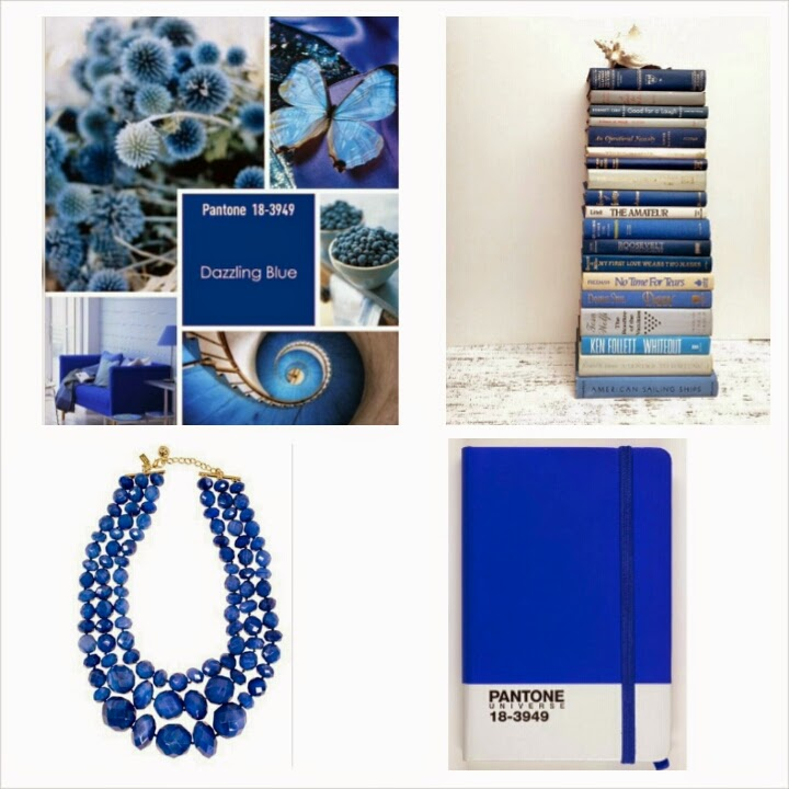 Pantone Dazzling Blue Collage