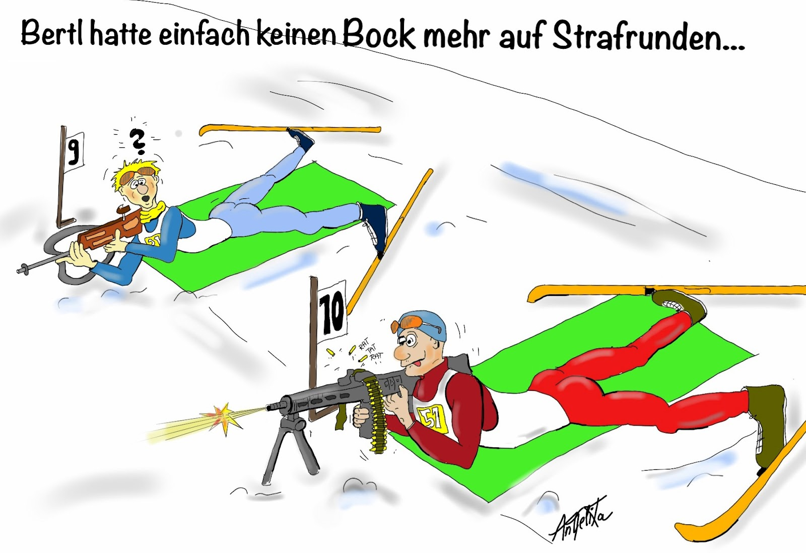 sketch carton: Biathlon