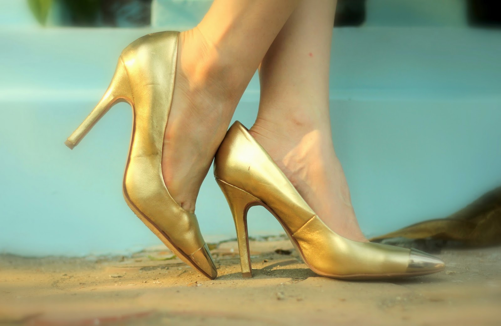 Gold Aldo Pumps